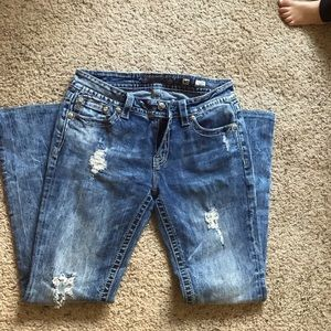 MISS ME JEANS size 30. Cross and sequins 😍